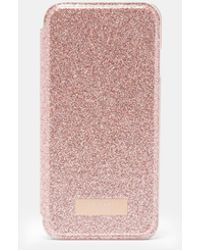 Ted Baker - Glitter Iphone 6/6s/7/8 Book Mirror Case - Lyst