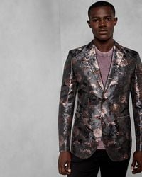 Ted Baker - Global Floral Jacquard Jacket - Lyst