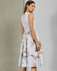 Ted Baker - Full Skirted Cotton Dress - Lyst