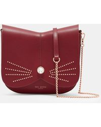 Ted Baker - Leather Crystal Stud Cat Bag - Lyst