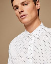 Ted Baker - Polka Dot Phormal Cotton Shirt - Lyst