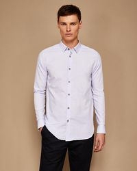 Ted Baker - Spotted Diamond Print Cotton Shirt - Lyst
