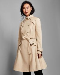 Ted Baker - Double Breasted Cotton Trench Coat - Lyst