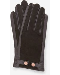 Ted Baker - Suede And Leather Gloves - Lyst