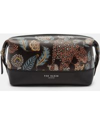 Ted Baker - Printed Leather Wash Bag - Lyst