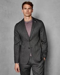 4d7a8c628f14 Ted Baker Bundaj Wool Semi Plain Tailored Suit Jacket in Gray for ...