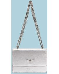 Ted Baker - Bow Detail Metallic Leather Micro Bag - Lyst