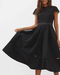 Ted Baker - Frizay Lace Bodice Full Midi Dress - Lyst
