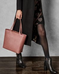 dc5921967 Ted Baker Leather Mini Tote Bag in Brown - Lyst