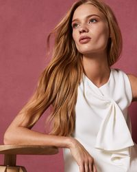 Ted Baker - Sculpted Bow Sleeveless Top - Lyst