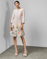 Ted Baker - Elegant Textured Dress Coat - Lyst