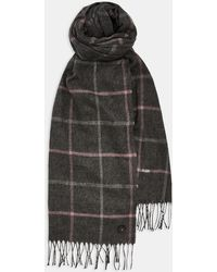 Ted Baker - Checked Scarf - Lyst