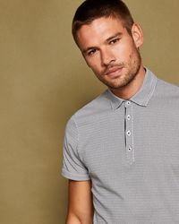 Ted Baker - Geometric Print Polo Shirt - Lyst