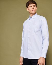 Ted Baker - Textured Cotton Shirt - Lyst