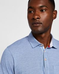Ted Baker - Stripe Detail Cotton Polo Shirt - Lyst