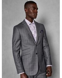 Ted Baker - Classic Checked Wool Suit Jacket - Lyst