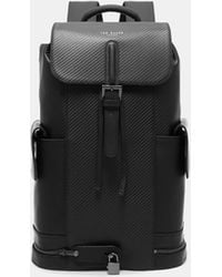 Ted Baker - Textured Leather Backpack - Lyst