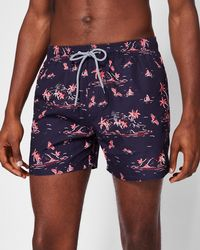 0327c8fdac Ted Baker Gusty All Over Print Swim Shorts in Blue for Men - Lyst