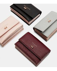 Ted Baker - Textured Leather Concertina Card Holder - Lyst