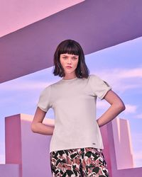 Ted Baker - Twisted Cuff T-shirt - Lyst