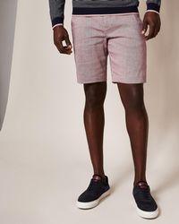 Ted Baker - Slim Fit Linen Shorts - Lyst