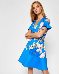 Ted Baker - Harmony Cold Shoulder Dress - Lyst