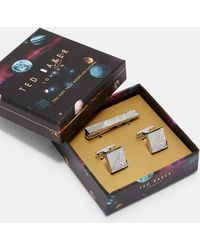 Ted Baker - Cufflink And Tie Bar Gift Set - Lyst