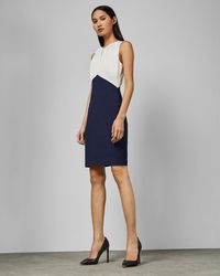 Ted Baker - Fitted Sleeveless Dress - Lyst