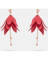 Ted Baker | Fuchsia Drop Earrings | Lyst