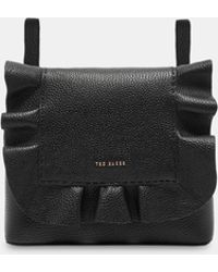 Ted Baker - Leather Ruffle Multiway Backpack - Lyst