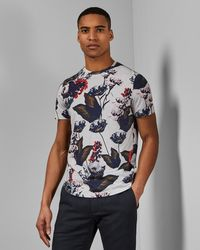 Ted Baker - Floral Cotton T-shirt - Lyst