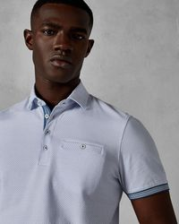 Ted Baker - Mini Geo Print Cotton Polo Shirt - Lyst