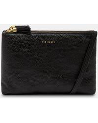 Ted Baker - Tassel Leather Double Zip Cross Body Bag - Lyst