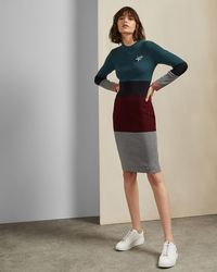Ted Baker - Ribbed Knitted Dress - Lyst