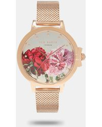Ted Baker - Palace Gardens Link Strap Watch - Lyst