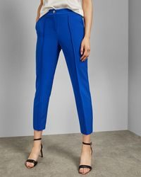 345ee58e29fe Ted Baker Windermere Cropped Trousers in Blue - Lyst