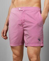 Ted Baker Stripe Print Swim Shorts