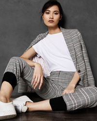 Ted Baker - Contrast Cuff Check Trousers - Lyst