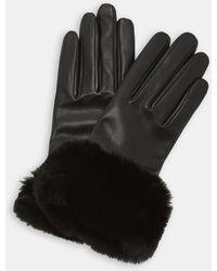 Ted Baker - Faux Fur Trim Gloves - Lyst