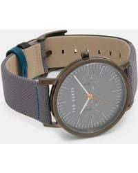 Ted Baker - Textured Leather Strap Watch - Lyst