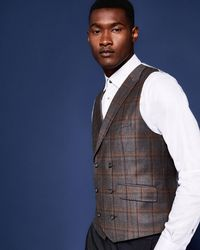 Ted Baker - Checked Wool Waistcoat - Lyst