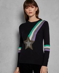 Ted Baker - Shooting Star Knit Sweater - Lyst