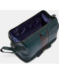 8c6f1b901 Ted Baker - Striped Leather Washbag - Lyst