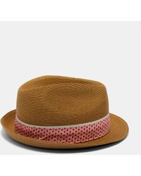Ted Baker - Straw Trilby Hat - Lyst