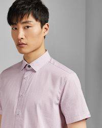 Ted Baker - Rectangle Geo Print Cotton Shirt - Lyst