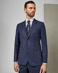 4f315298a Ted Baker Tightlines Wool Vest in Blue for Men - Lyst
