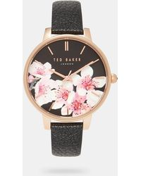 Ted Baker - Soft Blossom Printed Dial Watch - Lyst