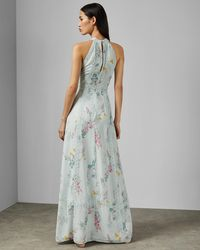 e576efcdc Ted Baker Embellished Lace Bodice Maxi Dress in Green - Lyst