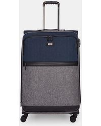 "Ted Baker - Brunswick 22"" Leather Trimmed Rolling Suitcase - Lyst"