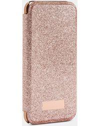 Ted Baker Glittered Iphone Flip Case